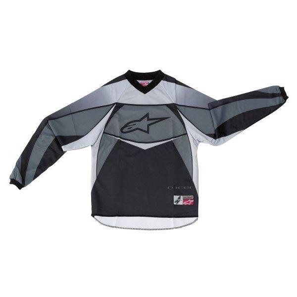 Alpinestars Racer Kids XIV Black MX Jersey Front