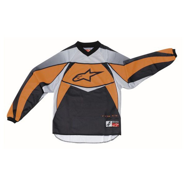 Alpinestars Racer Kids XIV Orange Motocross Jersey Front