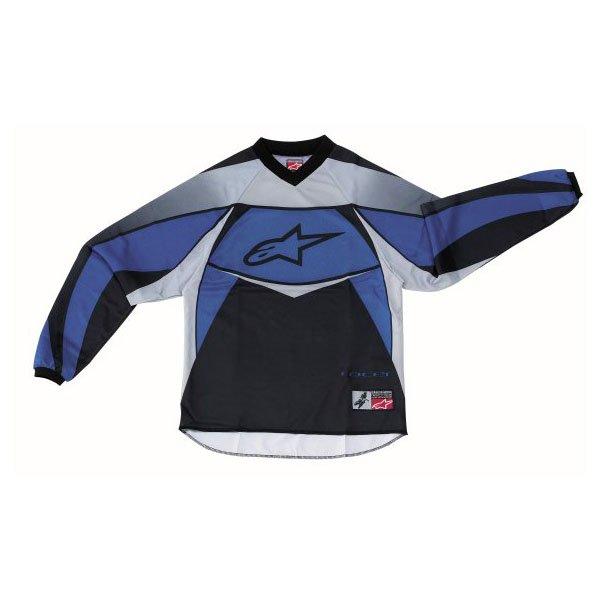 Alpinestars Racer Kids XIV Blue MX Jersey Front