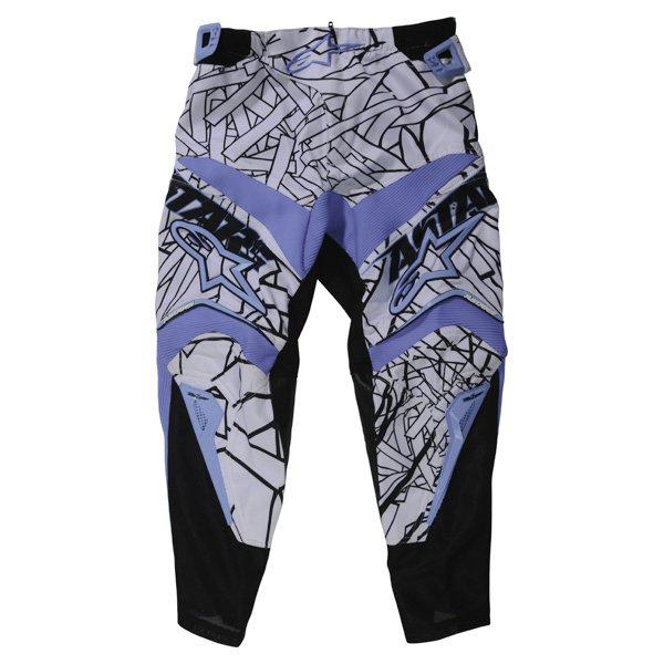 Alpinestars Charger Kids XIV Black Blue MX Pants Front