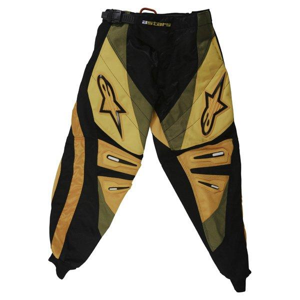 Alpinestars Charger Kids XIV Yellow MX Pants Front