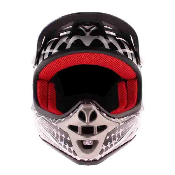 BKS 303 Piston Kids MX Silver Helmet Front