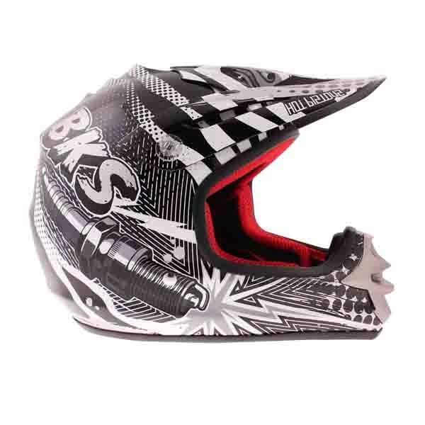 BKS 303 Piston Kids MX Silver Helmet Right Side