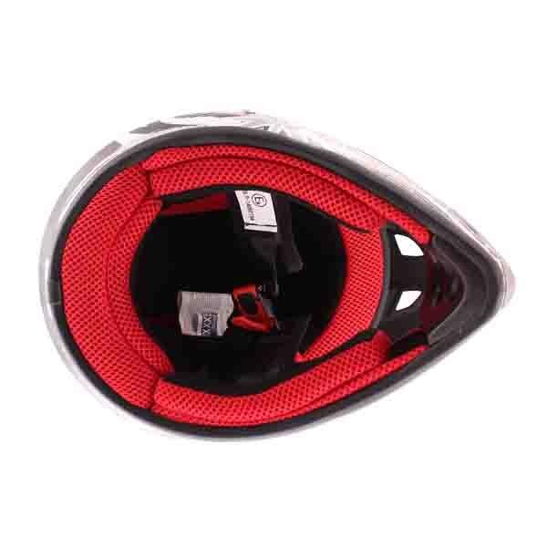 BKS 303 Piston Kids MX Silver Helmet Inside