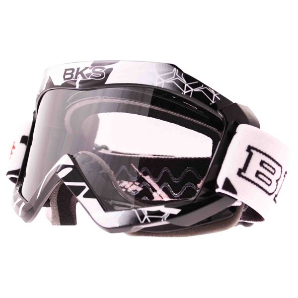 BKS Adult MX Black Goggles Front Left