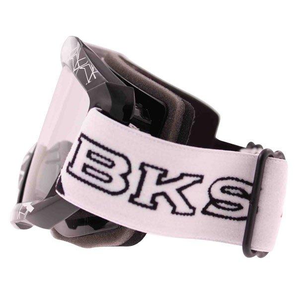 BKS Adult MX Black Goggles Left Side