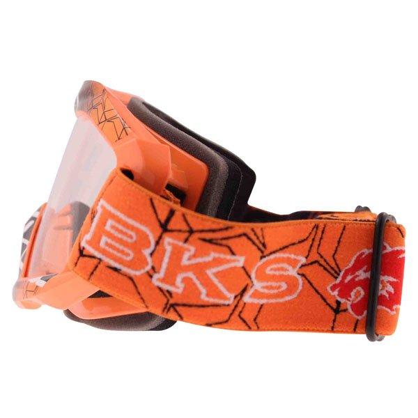 BKS Adult MX Orange Goggles Left Side