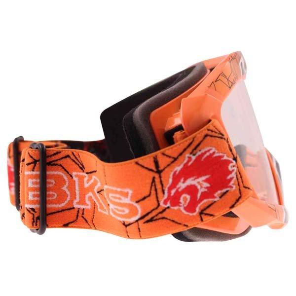BKS Adult MX Orange Goggles Right Side
