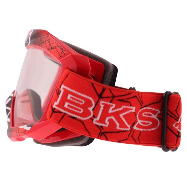 BKS Adult MX Red Goggles Left Side