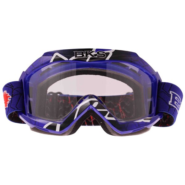 BKS Adult MX Blue Goggles Front