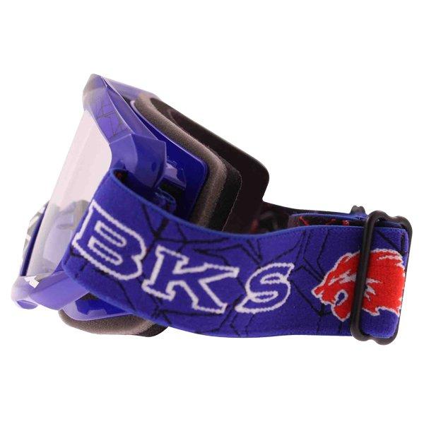 BKS Adult MX Blue Goggles Left Side