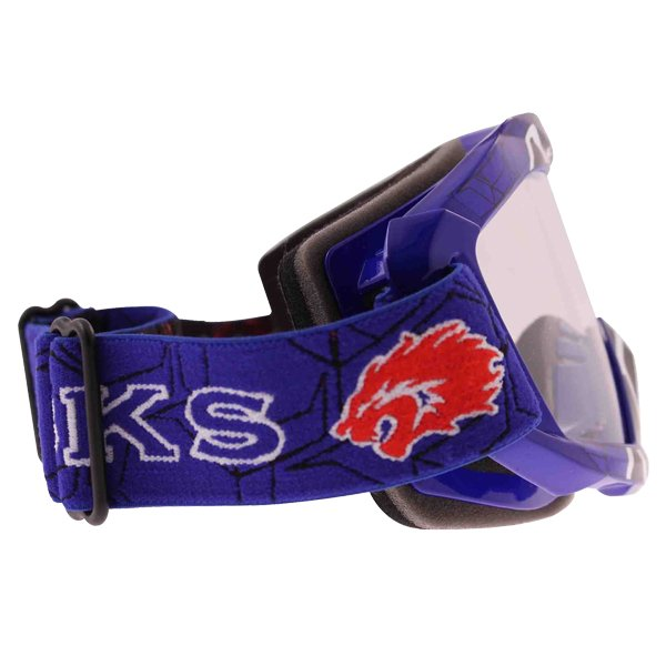 BKS Adult MX Blue Goggles Right Side