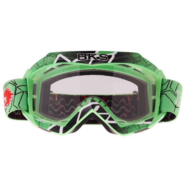 BKS Adult MX Green Goggles Front