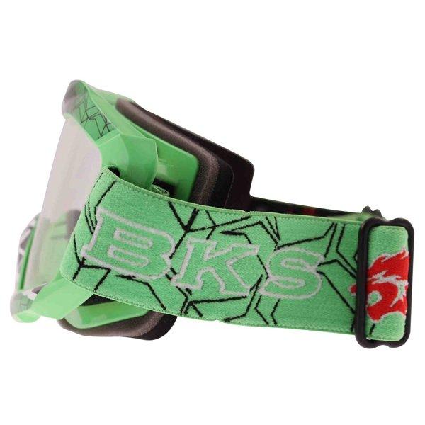 BKS Adult MX Green Goggles Left Side