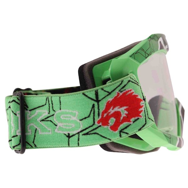 BKS Adult MX Green Goggles Right Side