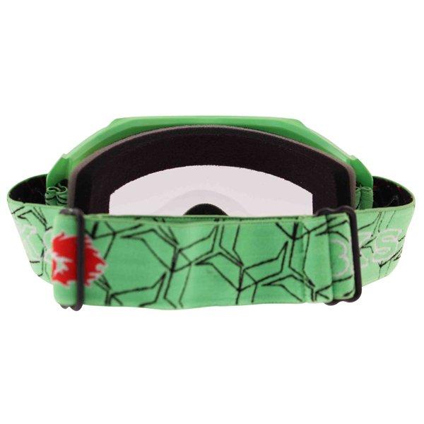 BKS Adult MX Green Goggles Back