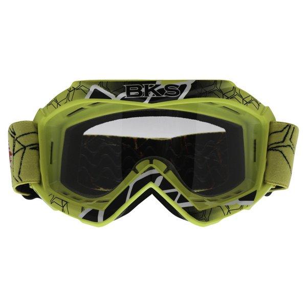 BKS Kids Yellow Motocross Goggles Front