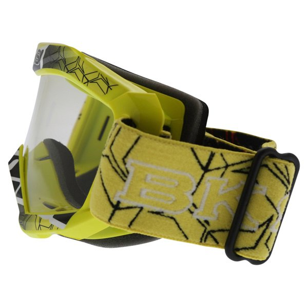 BKS Kids Yellow Motocross Goggles Left Side