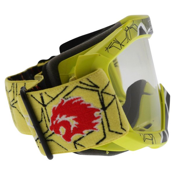 BKS Kids Yellow Motocross Goggles Right Side