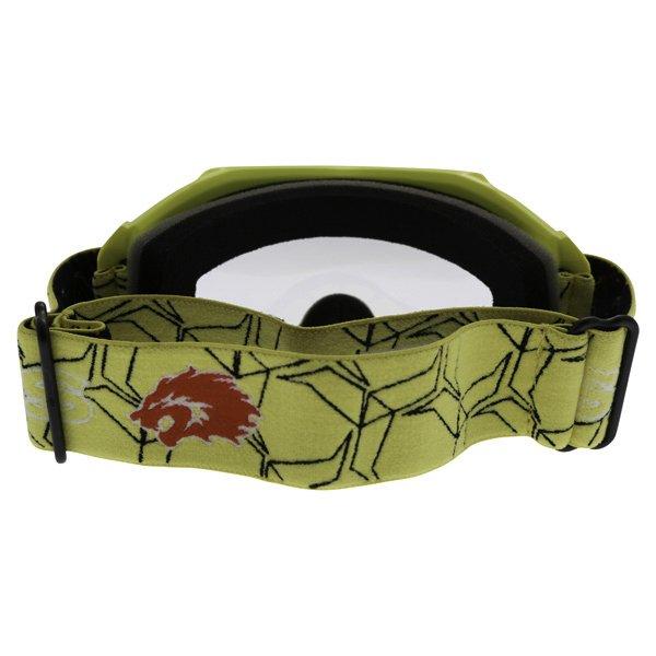 BKS Kids Yellow Motocross Goggles Back
