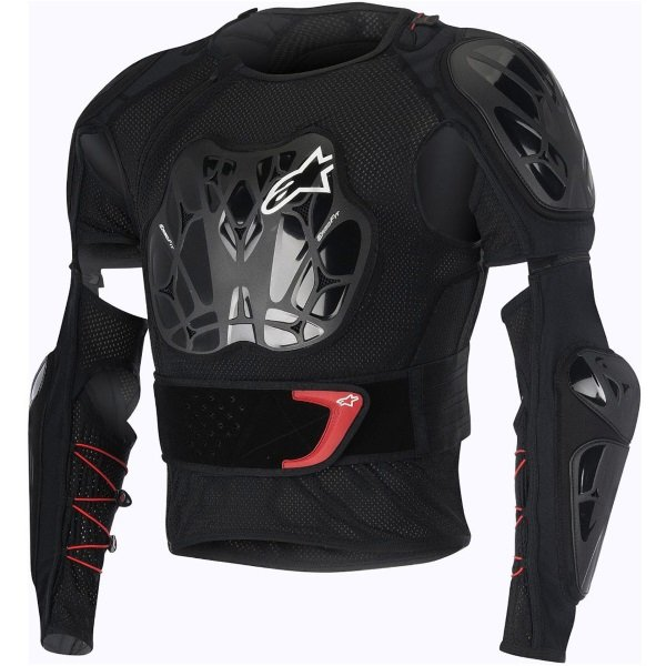 Alpinestars Bionic Tech Black Red White Armoured Motorcycle Under Jacket Front
