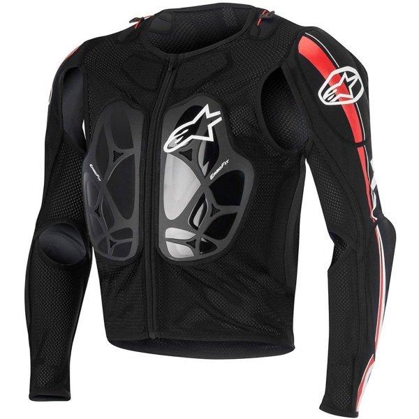 Alpinestars Bionic Pro Black Red White Armoured Motorcycle Under Jacket Front