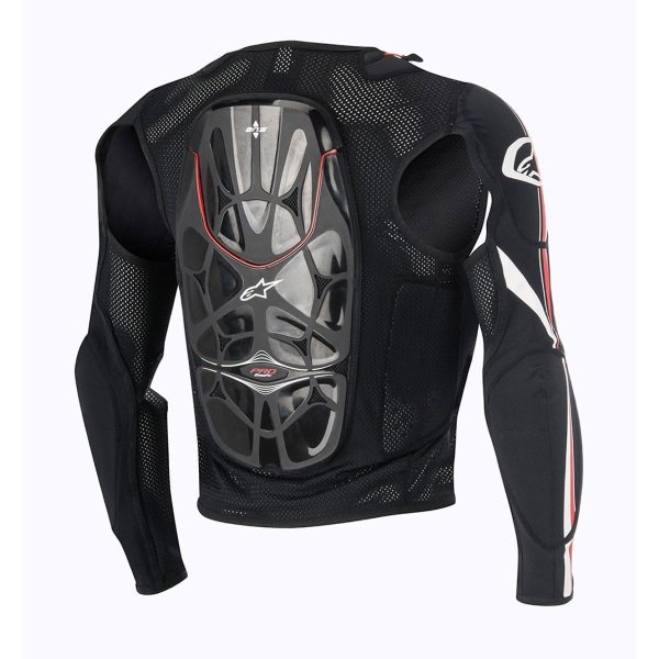 Alpinestars Bionic Pro Black Red White Armoured Motorcycle Under Jacket Back