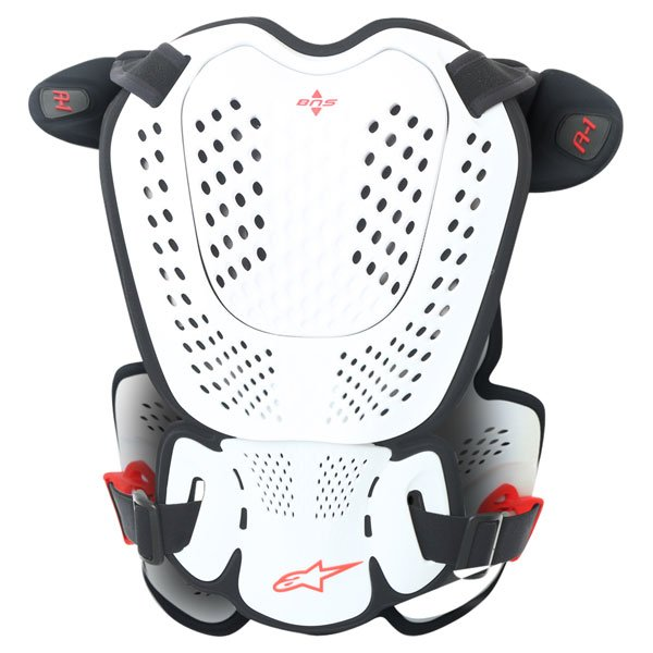 Alpinestars A-1 Roost Guard White Black Red MX Body Armour Back