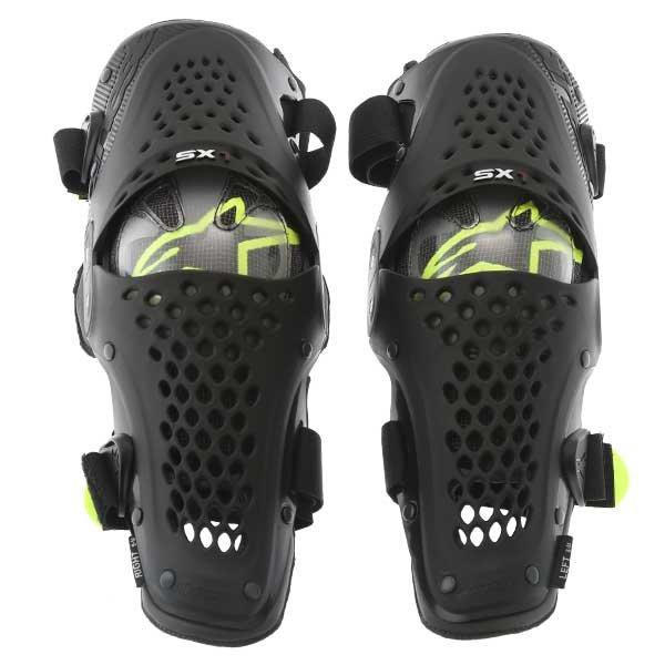 Alpinestars SX-1 Black Grey MX Knee Guards