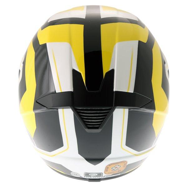 Bell SX-1 Storm Yellow Helmet Back