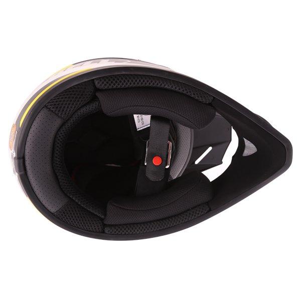 Bell SX-1 Storm Yellow Helmet Inside