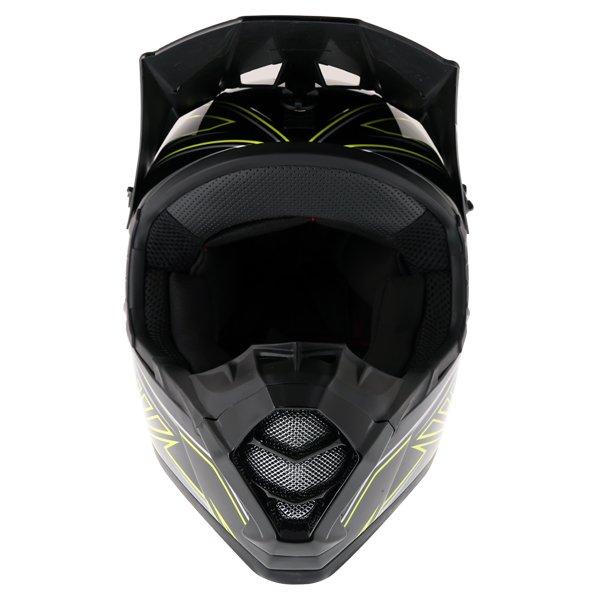 Bell SX-1 Sonic Black Yellow Helmet Front