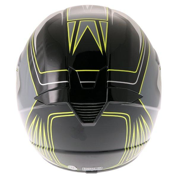 Bell SX-1 Sonic Black Yellow Helmet Back