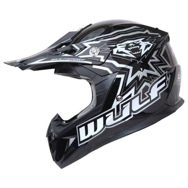 Cub Flite X Helmet Black Kids Motocross Helmets