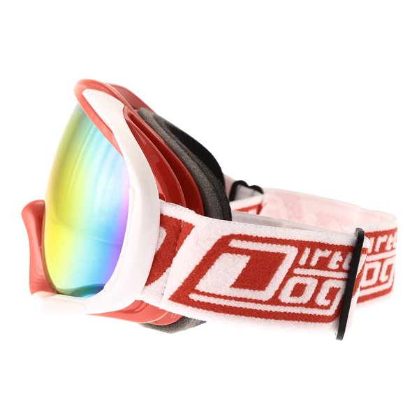 Dirty Dog MX Outrigger Red White Red Fusion Goggles Left Side