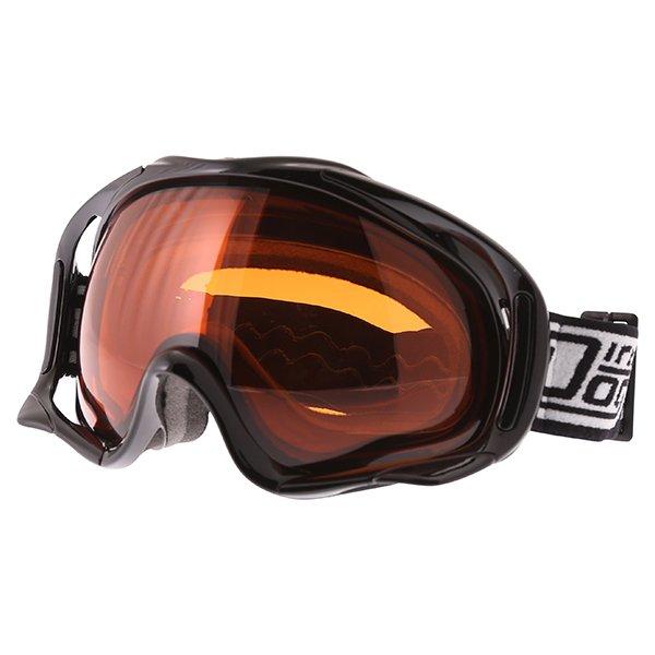 Dirty Dog MX Outrigger Black Orange Goggles Front Left