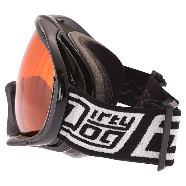 Dirty Dog MX Outrigger Black Orange Goggles Left Side