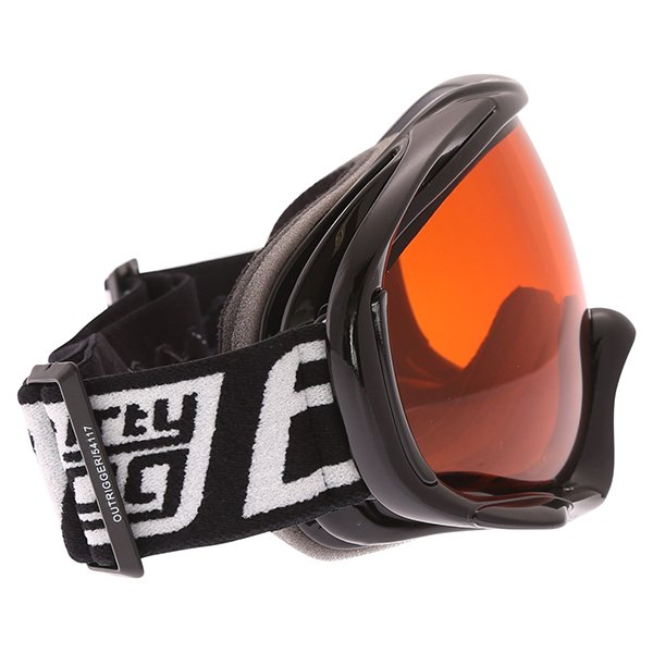 Dirty Dog MX Outrigger Black Orange Goggles Right Side