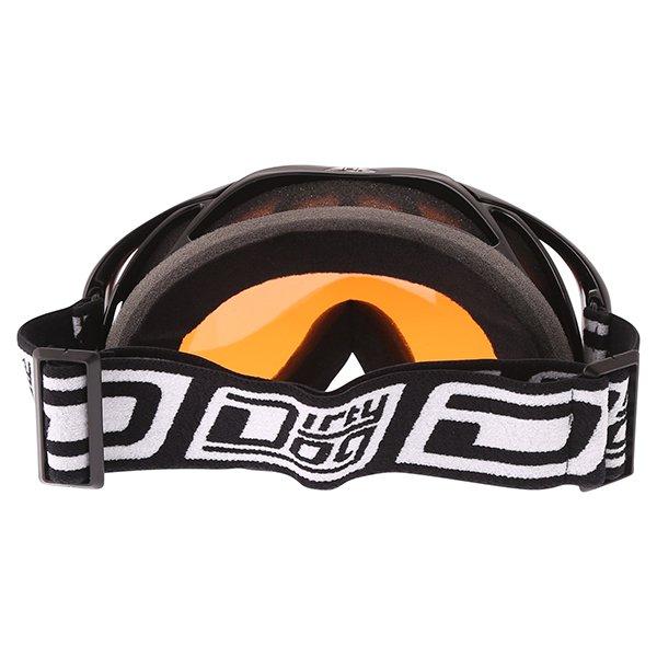 Dirty Dog MX Outrigger Black Orange Goggles Back
