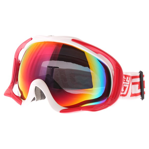 Dirty Dog MX Outrigger White Red Red Fusion Goggles Front Left