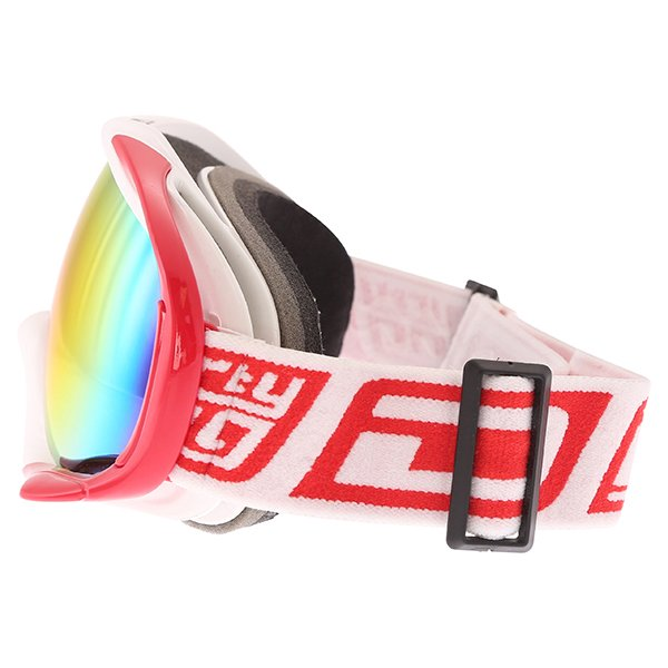 Dirty Dog MX Outrigger White Red Red Fusion Goggles Left Side