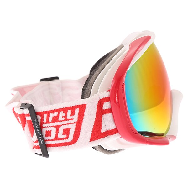 Dirty Dog MX Outrigger White Red Red Fusion Goggles Right Side