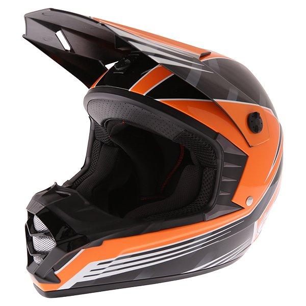 Bell SX-1 Race Orange Helmet Front Left