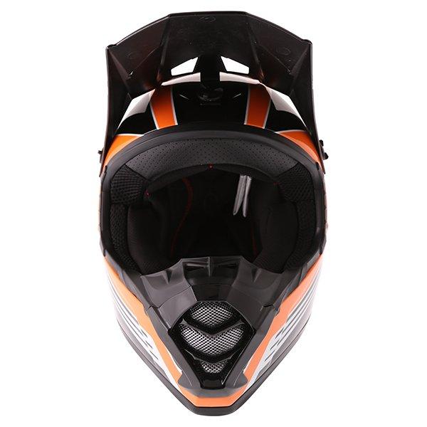 Bell SX-1 Race Orange Helmet Front