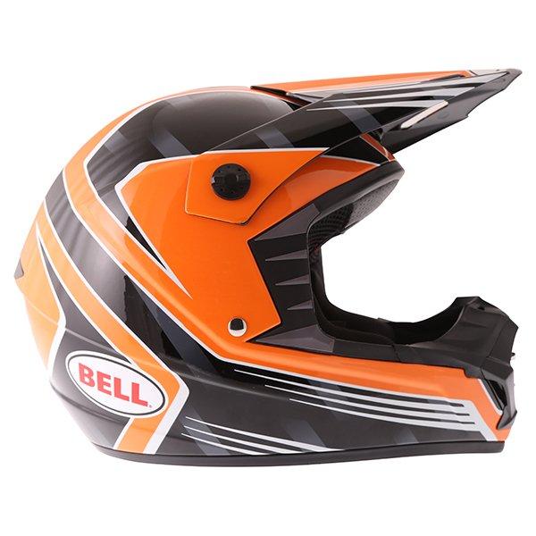 Bell SX-1 Race Orange Helmet Right Side