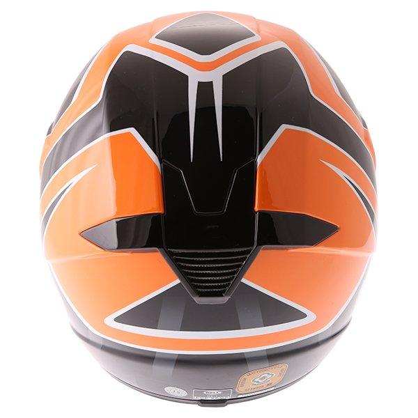 Bell SX-1 Race Orange Helmet Back