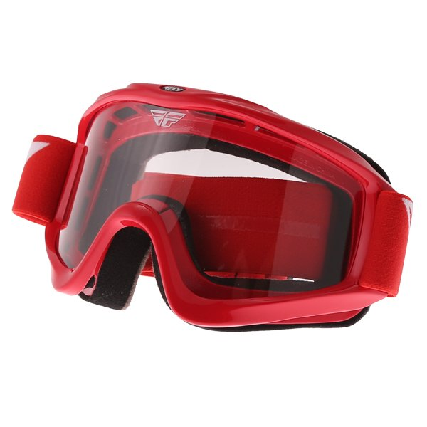 Fly Racing Focus Red Goggles Front Left