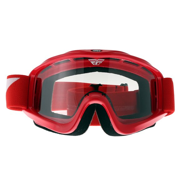 Fly Racing Focus Red Goggles Front