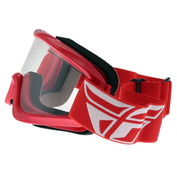 Fly Racing Focus Red Goggles Left Side