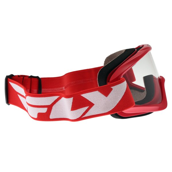 Fly Racing Focus Red Goggles Right Side